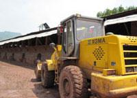 厦工装载机助力福建省某砖厂施工作业