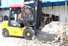 厦门市某新纸业有限公司采购3吨叉车协助作业