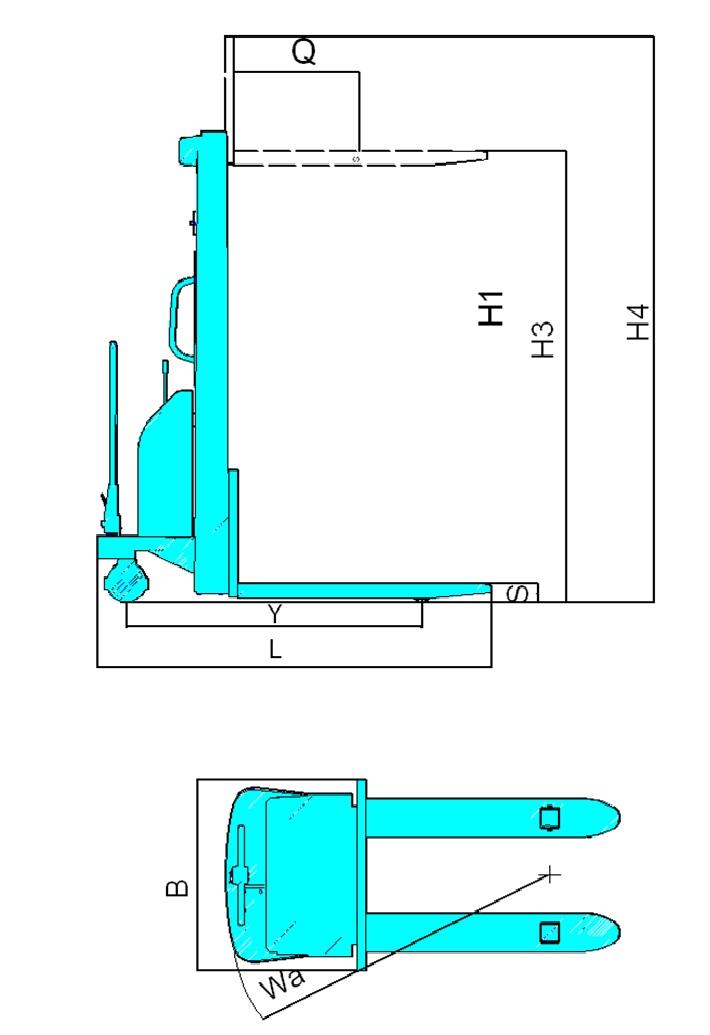 科力KLD10A型 半电动堆高车(1T)