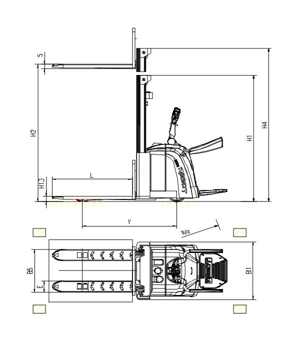 瑞搏特站驾式电动堆高车