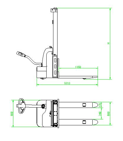 科力KLD10D型 步行式全电动堆高车(1T)