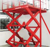 剪叉式电动升降货梯,固定式液压升降货梯