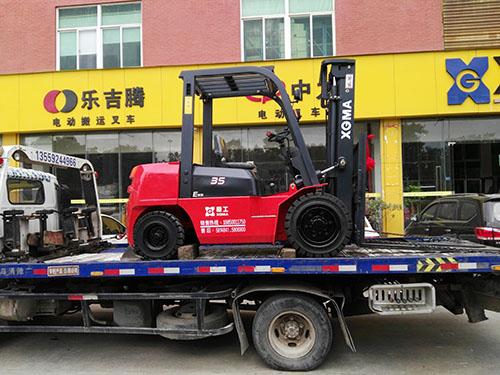 厦门某木业有限公司采购厦工3.5吨内燃叉车
