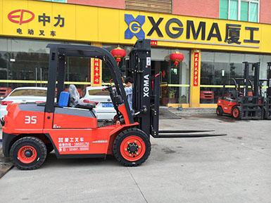 厦门某吊装工程有限公司采购厦工E系3.5吨叉车一台