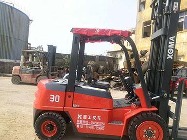 厦门某橡胶工业有限公司再次采购厦工叉车CPC30
