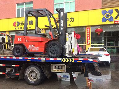 厦门某食品有限公司采购厦工3吨叉车配套属具推拉器