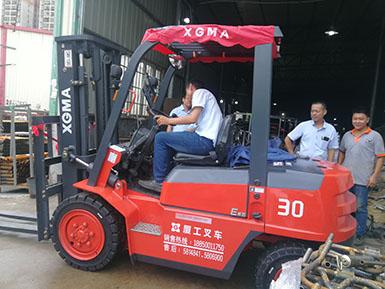 厦门某机械有限公司采购3吨厦工内燃平衡重式叉车