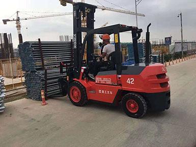 中国中铁采购厦工叉车为基建建设添砖加瓦