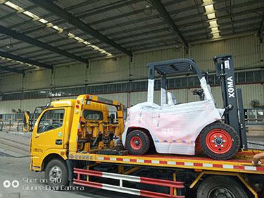 漳州某物流业公司再次采购厦工叉车已经顺利交车