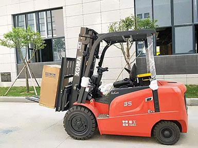 漳州分公司销售团队成功销售厦工3.5吨电动叉车壹台