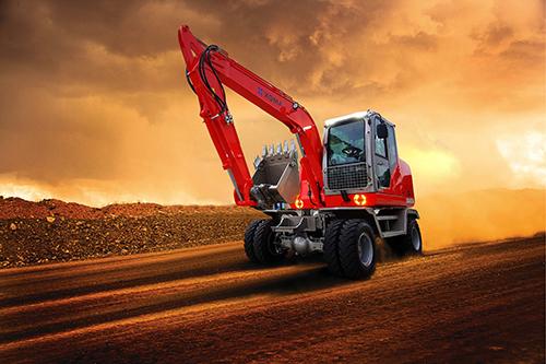 厦工众力兴轮式挖掘机XG8075W