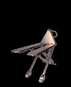 手动升降搬运车(全不锈钢):手动式托盘搬运和抬升