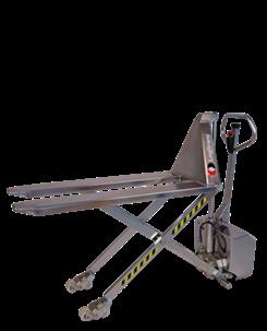 手动升降搬运车(全不锈钢): 电动抬升及手动搬运