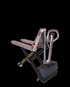 电动升降搬运车(半不锈钢):电动式抬升和手动式搬运